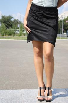 Черная хлопковая юбка FORMALAB