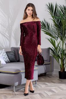 Бордовое вечернее платье RUXARA